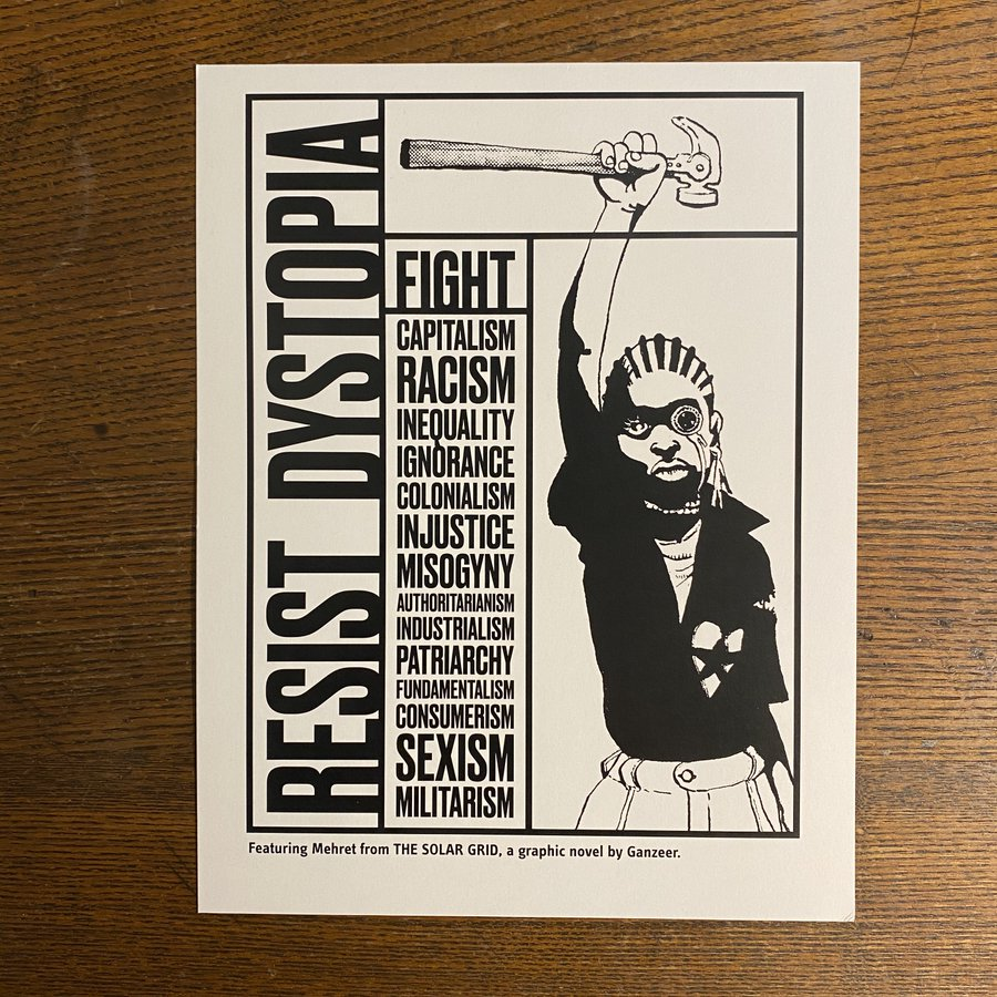 Photo of Resist Dystopia Poster by Ganzeer.