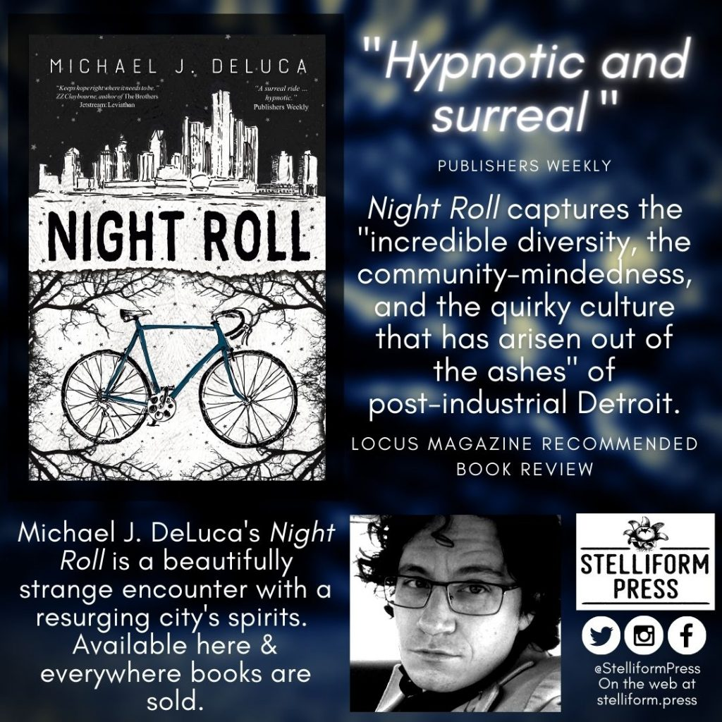 Michael J. DeLuca Night Roll Locus Review poster