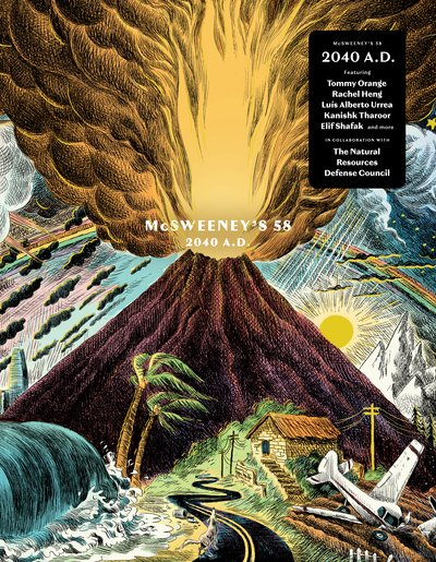 Cover of McSweeney's 58: 2040 A.D., the climate fiction issue.