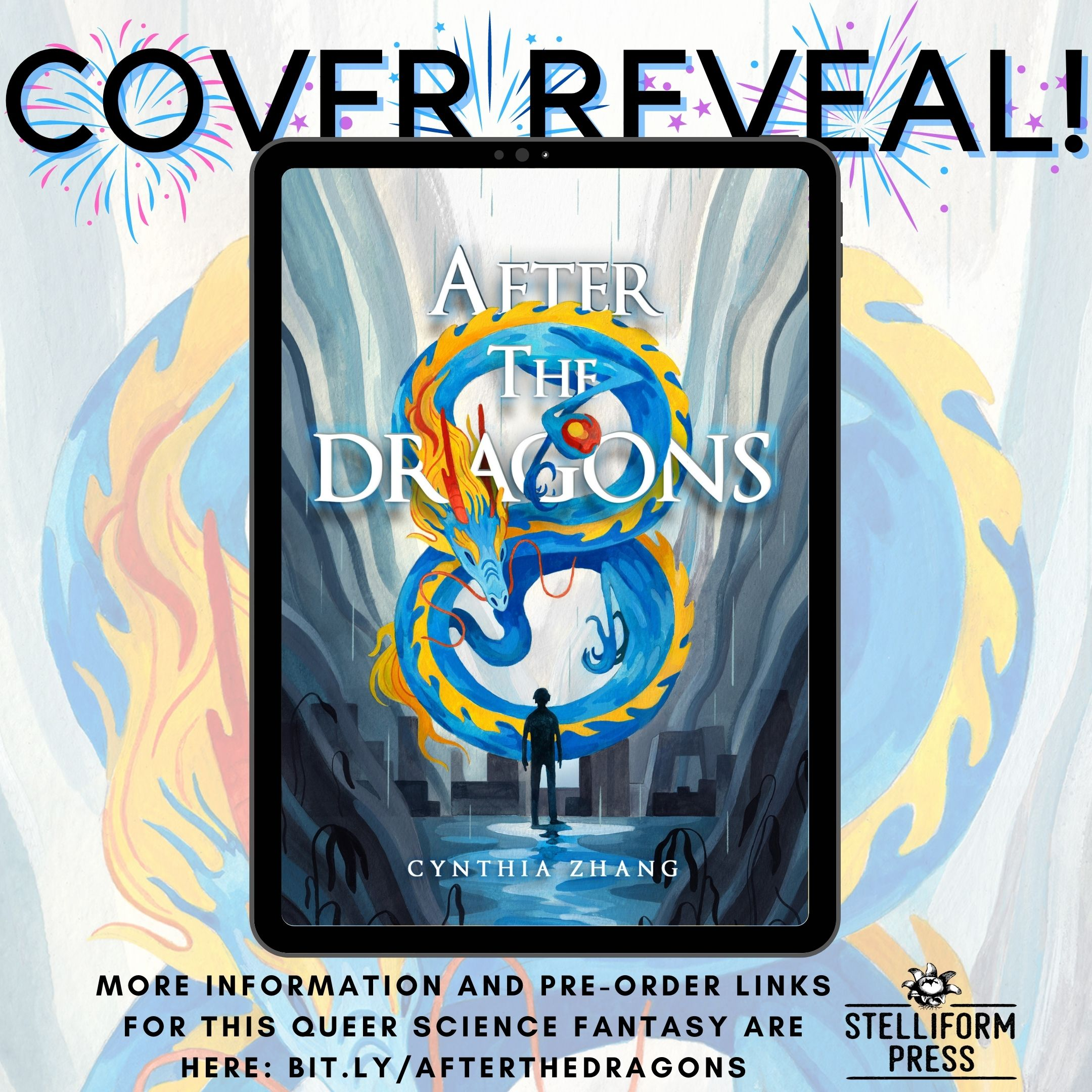 Cover Reveal Poster for Cynthia Zhang's After the Dragons