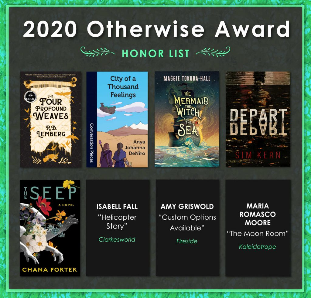 2020 Otherwise Award Honor List poster
